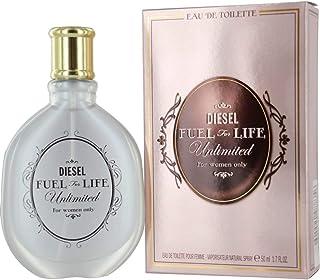 Diesel Fuel for Life Unlimited Eau De Toilette Spray for Women, 1.7 Ounce