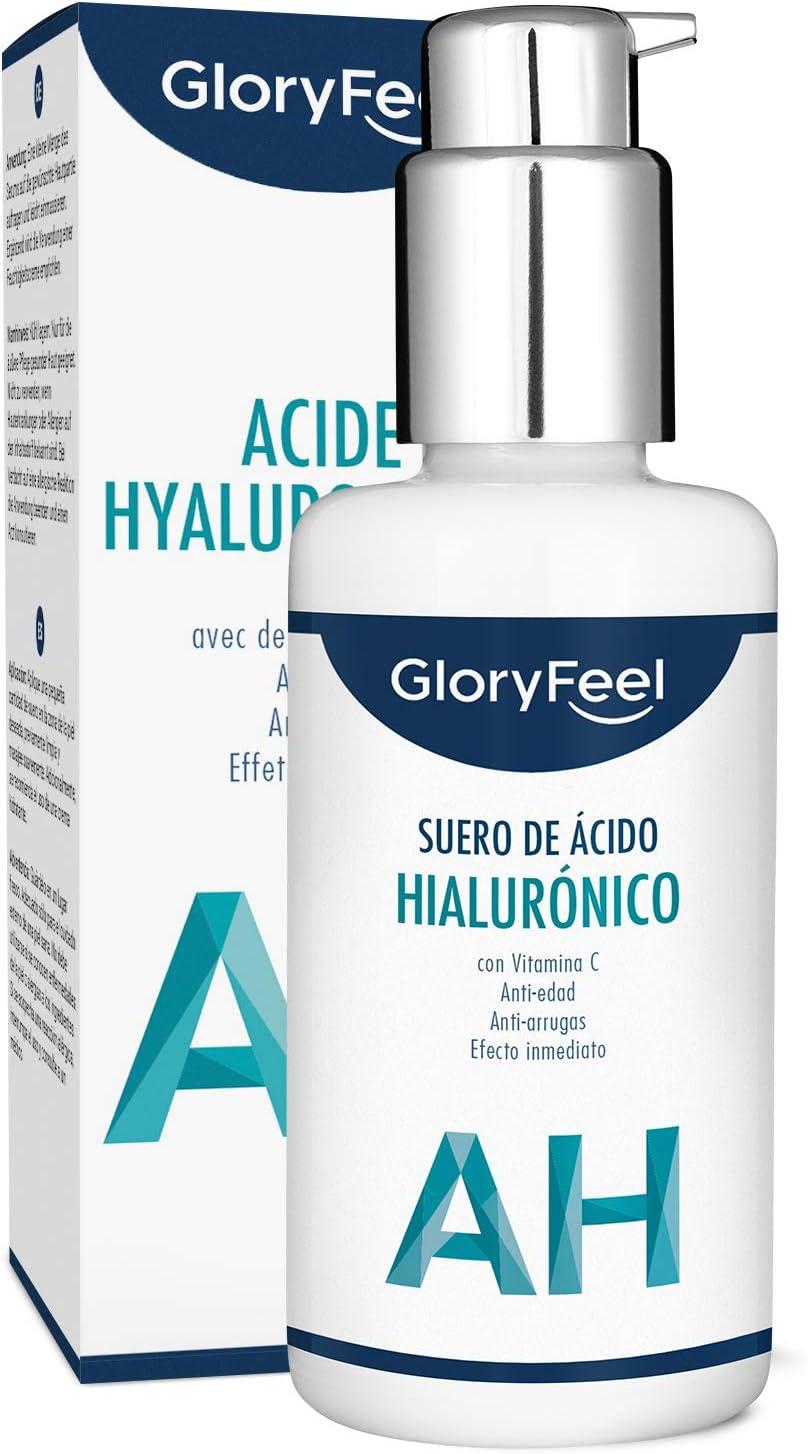 ● Acido Hialuronico Puro con Vitamina C Altamente Dosificado (50ml) ● Probado dermatológicamente y enriquecido con Péptidos eficaces ● Serum Facial para rostro, cuello y escote