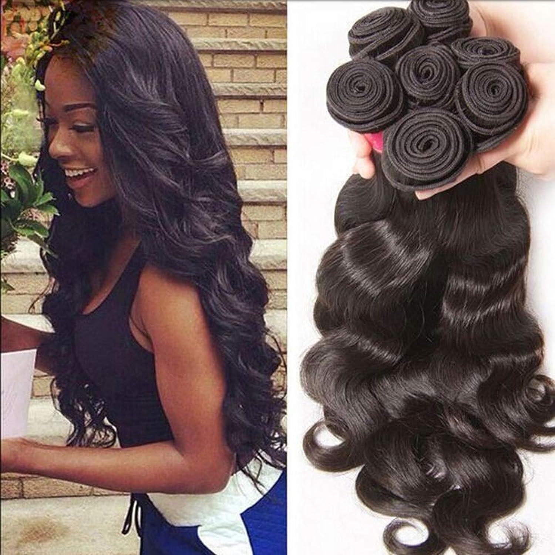 Fashian Wave Hair 1 Bundle 100% Unprocessed Virgin Human Brazilian Hair (1 Bundle, 10 24 , 50g) DIY Fun (color   Black, Size   10 inch)