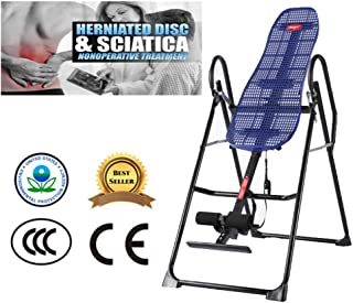 Zcyg Máquina Invertida, Tabla de inversión para Adultos, Tratamiento eficaz para Hernias en el Plato, Dolor de Espalda, Reversible, úselo por la mañana, Puede Mantenerse Despierto - Azul