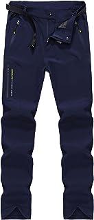 LHHMZ Hombre Acampada y Senderismo Pantalones Impermeables