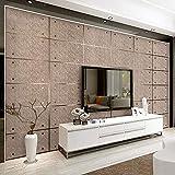 Papel pintado moderno de mármol de imitación de papel tapiz 3d, papel tapiz de gamuza no tejido, decoración, comedor, sala de estar, TV, papel tapiz-400X280cm