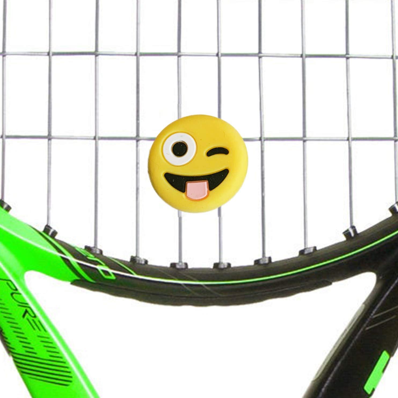 lustige Tennis D/ämpfer Vibrationsd/ämpfer im Emoji Design 4MA Tennisd/ämpfer Emoji 3er Set Verschiedene Sorten