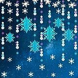 Kit de décoration pour fête de la Reine des neiges avec flocon de neige en papier...