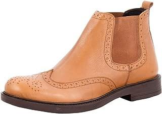 Salt N Pepper 16-570 Antartic Almond Men Real Leather Boots