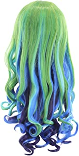 Beaupretty Peruca feminina para cosplay, peruca longa e encaracolada para festa, peruca natural colorida