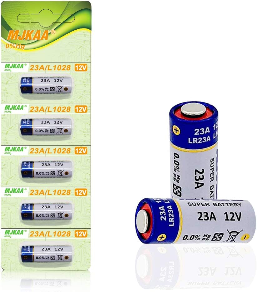 Pack of 5 A23 Battery 12V Alkaline 60 mAh [Ultra Power] - 12 Volt for Garage Doors Opener, Ceiling Fans & Wireless Doorbells Remotes MN21 23GA GP23AE A23S LR23A L1028
