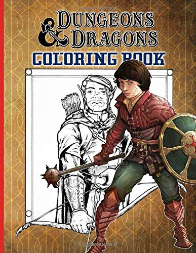 Dungeons And Dragons Coloring Book: Confidence And Relaxation Coloring Books For Kid And Adult Color Wonder Creativity