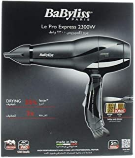 Babyliss BAB6614SDE,Babyliss 2300w hair dryer 3 speed + cool air 120km (Pack of 1)