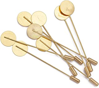 Forise 20pcs New Fashion Gold Color Stainless Steel Safety Pins Brooches for DIY Jewelry Accessories