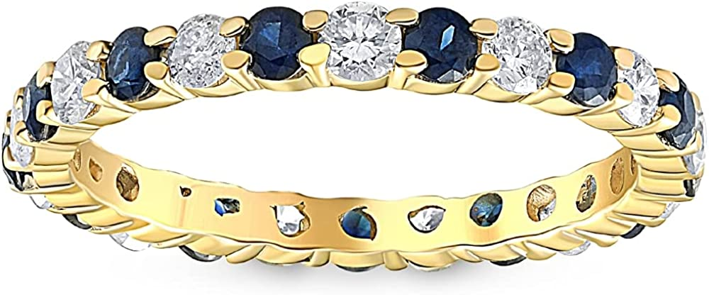 1 cttw Blue Sapphire Diamond Wedding Go Sales of SALE items from new works Yellow Ring Eternity Sale Special Price 10k