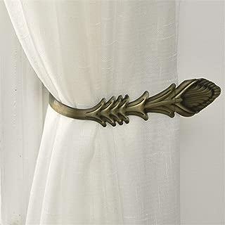 Decorative Curtain Holdback Antique Bronze Metal Curtain Holdbacks Drapery Holdbacks, Classic Vintage Wall Mounted Curtain Holdbacks for Curtains Coat Umbrellas Keys