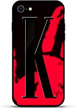 Luxendary Stylish, Fun, Creative, Design Oriented Cell Phone Case for iPhone 8/7 - Bold Initial K (Style #3) - Magma (Color Shifter)