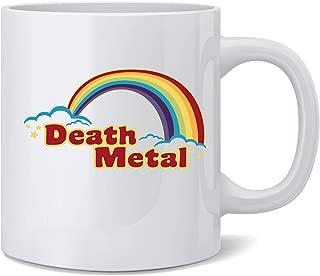 Poster Foundry Death Metal Retro Rainbow 70s 80s Sarcastic Coffee Mug Tea Cup 12 oz