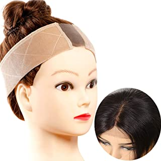 Lace wig grip No-slip Comfort Velvet Adjustable Wig Grip Band Flexible Scarf Hair Headband For Lace Wigs and Frontals (beige)
