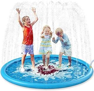 170cm Inflatable Splash Sprinkler mat, Outdoor Sprinkler mat Toy in Summer, Used for Children Toddler Pool Dog Wading Pool...