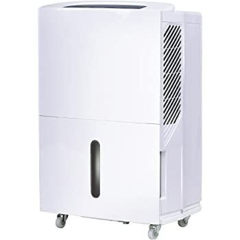 COSTWAY Portable Dehumidifier for Basement or Large Room Electric Dehumidifier Machine Safe Humidity Control Timer w/Washable Air Filter (30-Pint)
