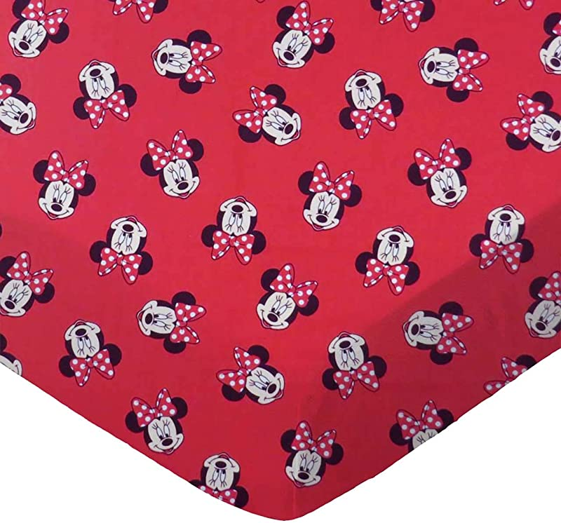 SheetWorld Fitted 100 Cotton Percale Pack N Play Sheet Fits Graco 27 X 39 Minnie Mouse Faces Made In USA