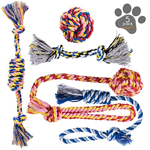Dog Toys  Dog Chew Toys  Puppy Teething Toys Puppy Chew Toys  Rope Dog Toy  Puppy Toys  Small Dog Toys  Chew Toys  Dog Toy Pack  Tug Toy  Dog Toy Set  Washable Cotton Rope for Dogs