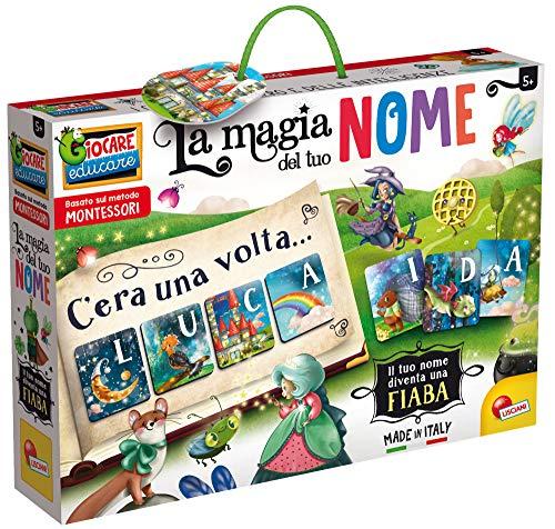 Lisciani Giochi- Montessori La Magia del Tuo Nome Gioco Educativo, Multicolore, 80182