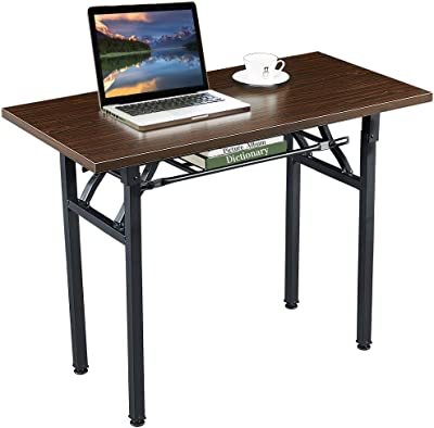 Folding Table Computer Desk Foldable Portable Writing Desk Sturdy and Heavy Duty Laptop Folding Desk for Small Space Home Office School