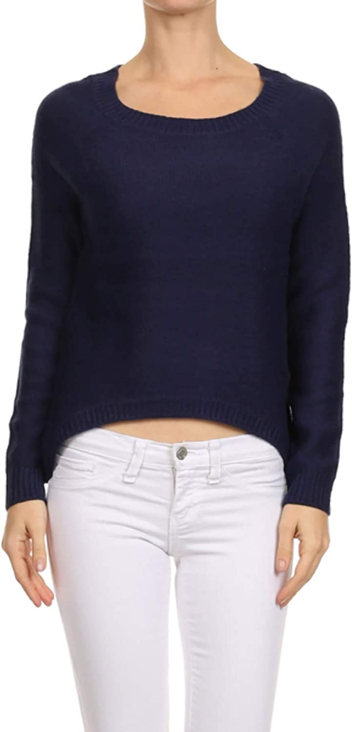 Ambiance Apparel Women's Long Sleeve Stretchy Knit Sweater