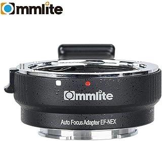 Commlite Auto Focus EF-NEX EF-EMOUNT FX - Adaptador de Montura de Lente para Canon EF EF-S a Sony E Mount NEX 3/3N/5N/5R/7/A7 A7R Full Frame