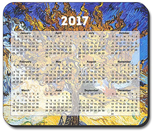 Van Gogh - Mulberry Tree Mouse Pad - with 2017 Calendar