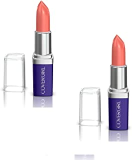 Covergirl Continuous Color Lipstick, 015 Bronzed Peach, 0.13 Oz, Pack of 2 (Packaging May Vary)