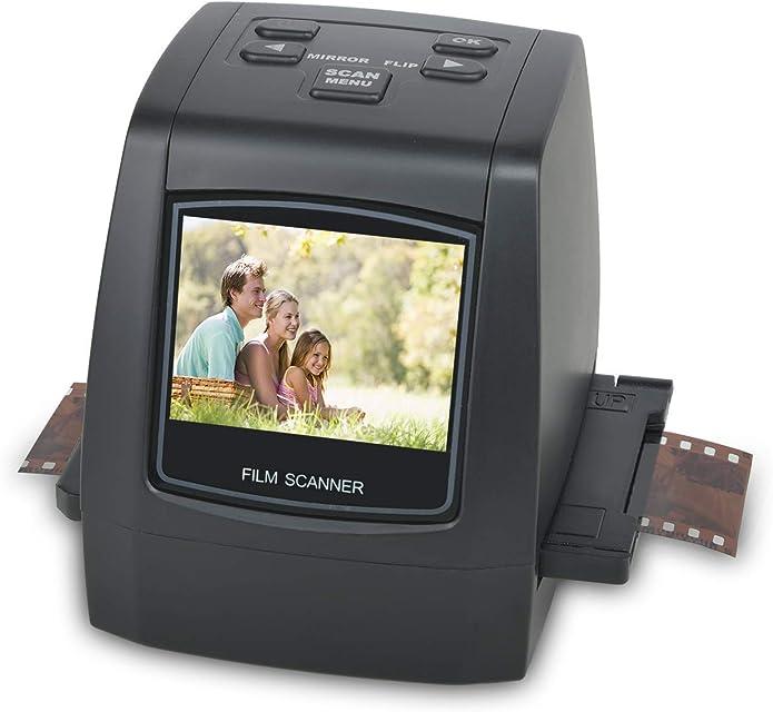 22MP Escáner de negativos y diapositivas  Convertidor digital con 24LCD para 35 mm/ Super 8/ 110/ 126 película