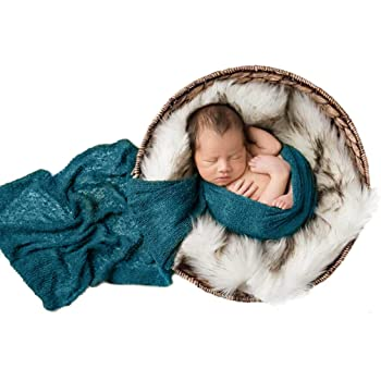 Ripple Wrap Set Newborn Photography Wrap Mat Josopa Baby Photography Props Fluffy Blanket Khaki