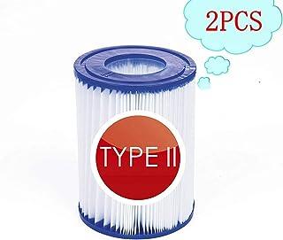 filtro de piscina tipo 2,Cartucho de filtro de piscina tipo II,Cartuchos de filtro para piscina For Bestway II, accesorio para piscina, filtro antisuciedad, cartucho de filtro de repuesto (2-PCS)