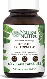 Natural Nutra Ultimate Eye Formula with Lutein, Blueberry and Bilberry Extract, Macular Degeneration and Night Vision Supplement, 60 Capsules