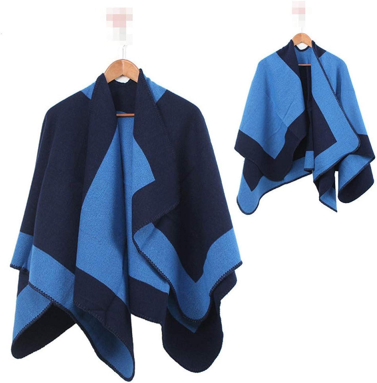 ADZPA Women's Scarves Creative Cloak Thick Shawl Bib Autumn And Winter Warm Cashmere,04OneSize