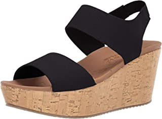 Skechers Women's Brit-Tall Tale-High Wedge Quarter Strap Sandal
