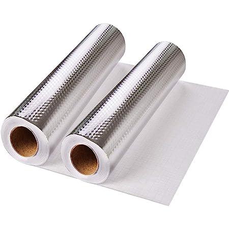 2 Piezas Aluminio Papel Pintado Cocina Papel Aluminio Autoadhesivo Papel Cocina Impermeable A Prueba Aceite Para Muebles Mesas Estilo Textura Rombo Amazon Es Bricolaje Y Herramientas