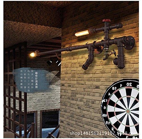 Water wandlamp American Village restaurant woonkamer slaapkamer Sniper geweer strijkijzer gepersonaliseerde Creative Lighting 69 * 82 cm