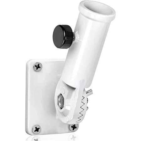 Light Gray Green Grove Products Aluminum Flag Pole Bracket Mount 2 Positions Fits Most 1 Inch Flag Poles