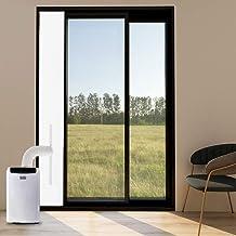 YKB Portable Ac Door Kit - Air Conditioner Door Seal for Sliding Door - Suitable for Exhaust Hoses of Different Sizes