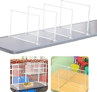 4枚 飛沫防止パーテーション 透明 デスク用パーテーション 樹脂仕切り板 飛沫感染対策 設置簡単 クロスパーテーション【95x95x36cm】飛沫遮断 対面式、飲食店様のカウンター席、テーブル相席の仕切り板として活躍