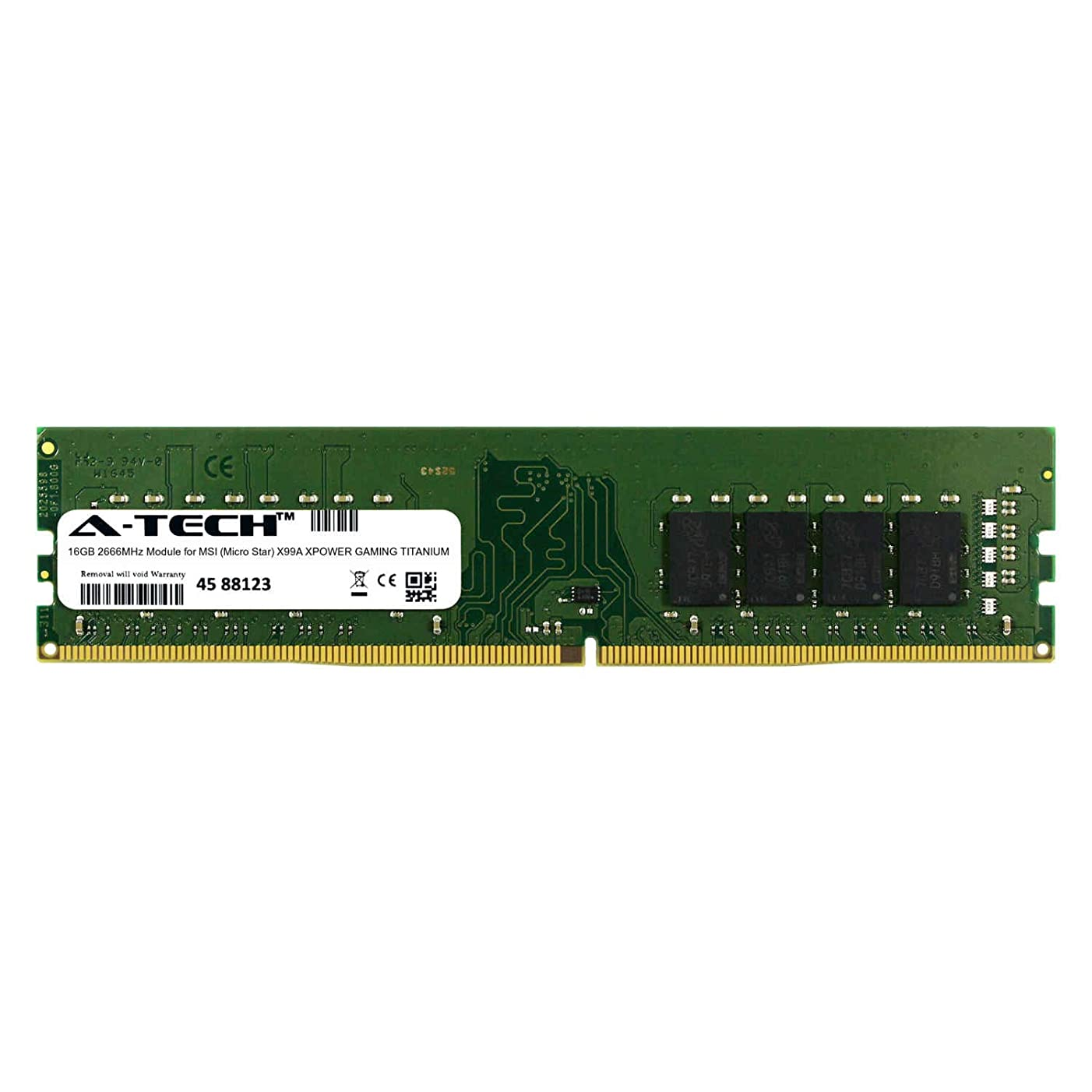 A-Tech 16GB Module for MSI (Micro Star) X99A XPOWER Gaming Titanium Desktop & Workstation Motherboard Compatible DDR4 2666Mhz Memory Ram (ATMS367744A25823X1)