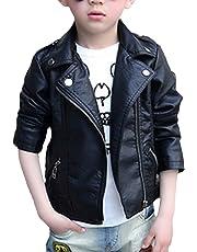 Snone男の子 ボーイズ PU革 ジャケット レザージャケット キッズ ライダースジャケット 子供 PU革 コート キッズ 子供 可愛い カジュアル 春 コート 男の子 子供服 ブルゾン かっこいい
