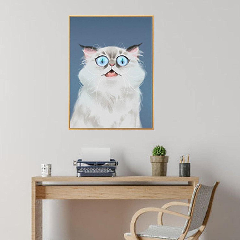 Super-cheap SHAZHU Canvas Wall Art Fat Painting Cat Beautiful C New Shipping Free Oil