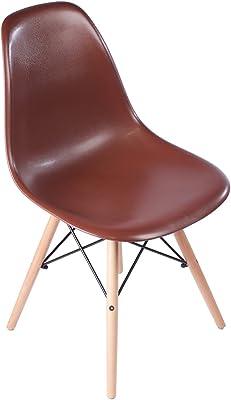 MidMod Designs Mid-Century Modern Dining Chair, Black