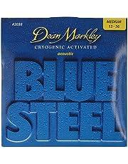 Dean Markley blå stål akustisk gitarr strängar 13-56 MED
