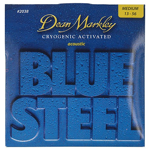 Dean Markley Blue Steel Acoustic MED - Cuerdas para guitarra (calibre 13-56)