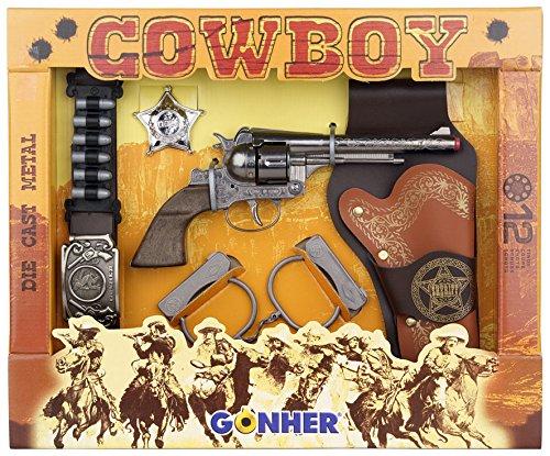Gonher-Cowboy PlaySet 12 Tiros, Multicolor, sin Talla (235/0)
