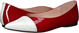 White/Red Leather/Patent