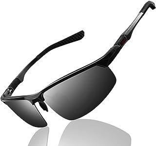Metal Sports Polarized Sunglasses Mens - FEIDU Polarized Outdoor Sports Goggles Glasses 100% UV400 Protection Driving Eyew...