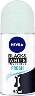 NIVEA, Deodorant Female, Invisible Black & White, Fresh, Roll-On, 50ml